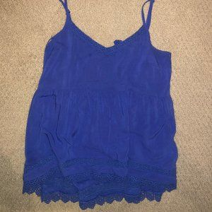 Altar'd State Blue Lacey Tank